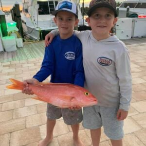 Kids with red snapper